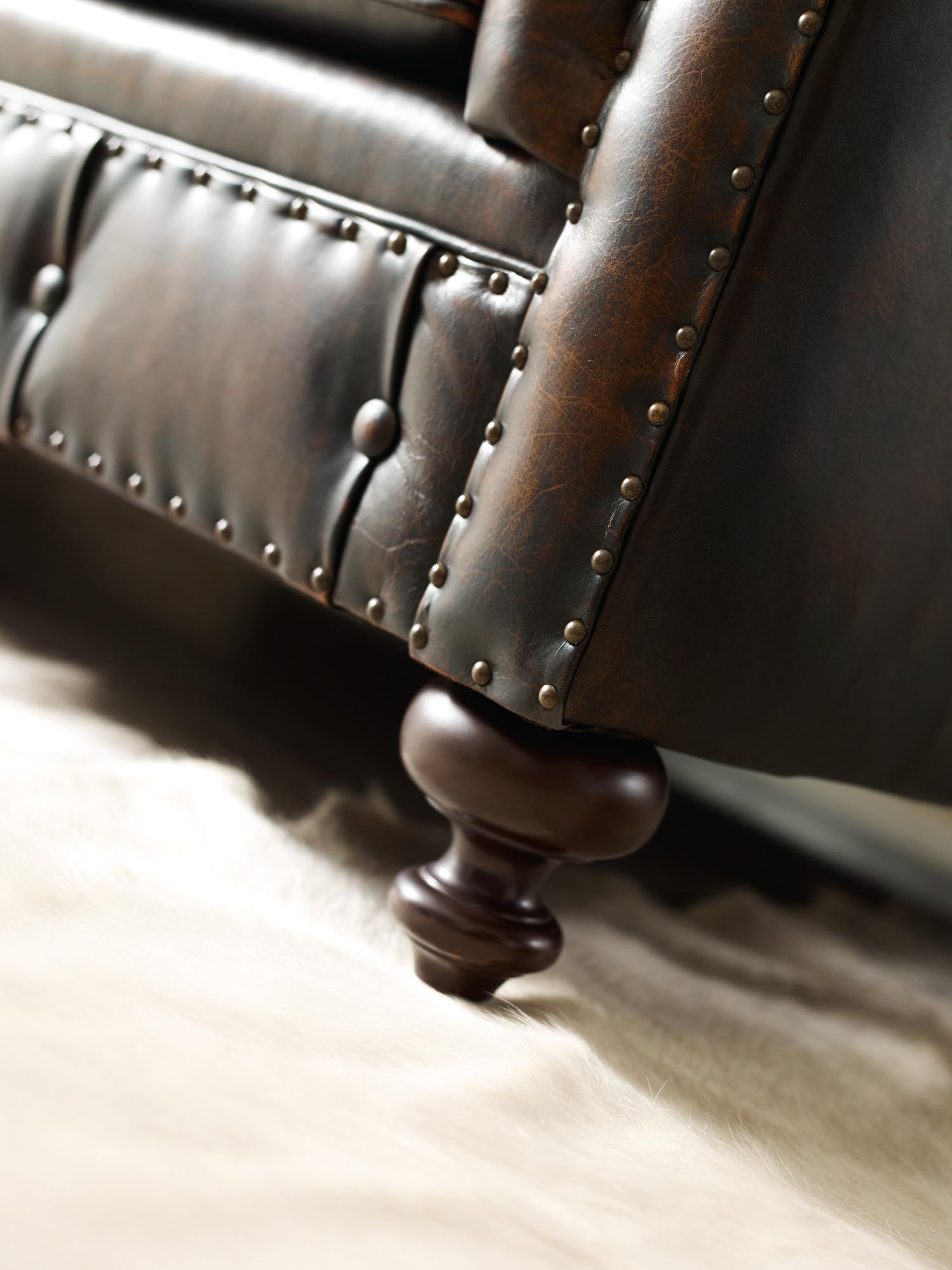 Sofa de piel retapizado